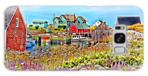 Peggy's Cove Wildflower Harbour Galaxy Case