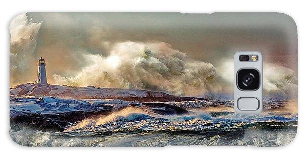 Peggy's Cove Winter Storm - Nova Scotia Galaxy Case