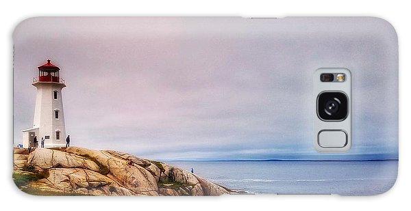 Peggys Point Lighthouse Galaxy Case