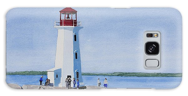 Peggy's Point Lighthouse Galaxy Case by Mike Robles