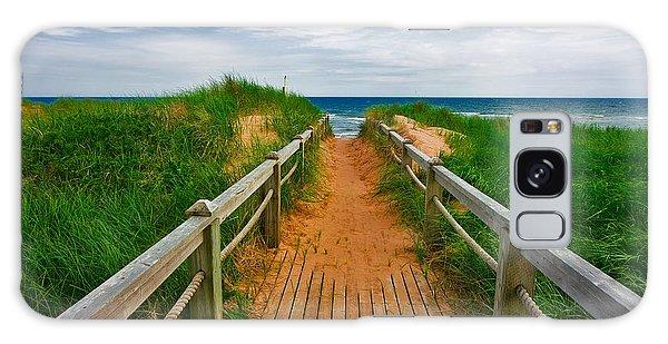 Pei Beach Boardwalk 2 Galaxy Case by Nicolas Raymond