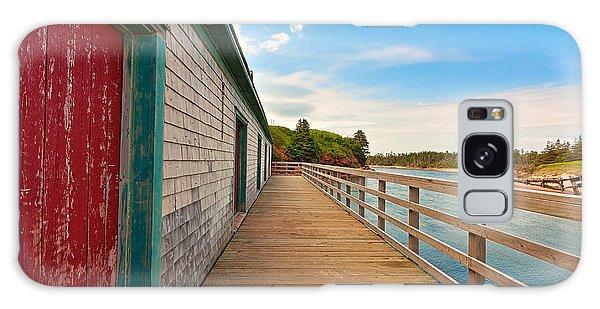 Pei Beach Boardwalk Galaxy Case by Nicolas Raymond