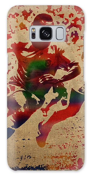 Pele Watercolor Portrait Galaxy Case