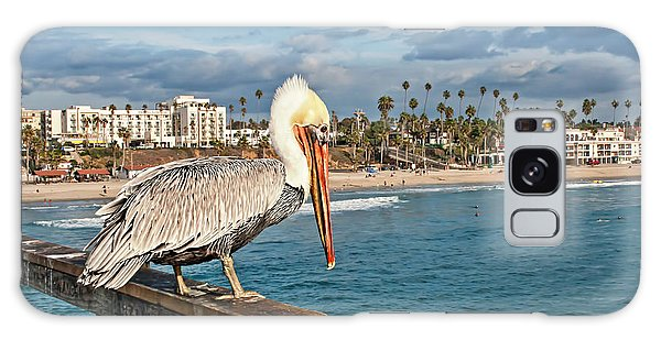 Pelican At The Fishing Point Galaxy Case