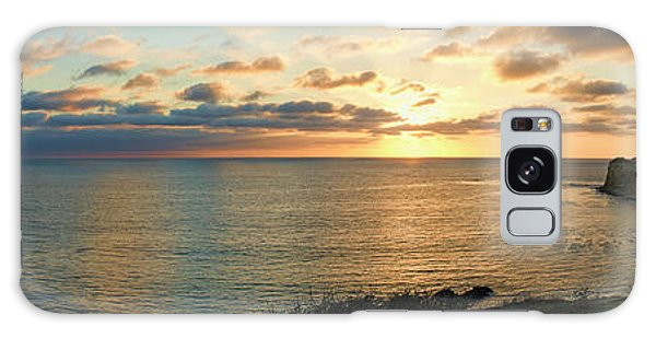 Pelican Cove Park Panorama Galaxy Case by Eddie Yerkish