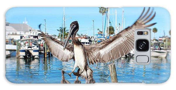 Pelican Flying In Galaxy Case