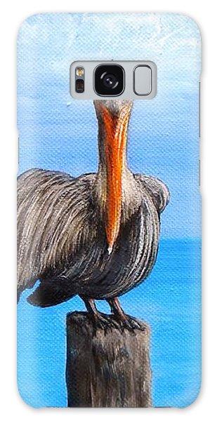 Pelican On Pier Galaxy Case