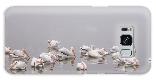 Pelicans On The Lake Galaxy Case by Carolyn Dalessandro