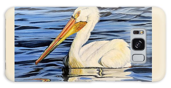 Pelican Posing Galaxy Case by Marilyn McNish