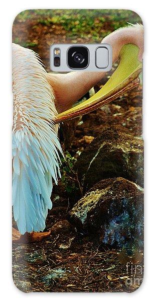 Pelican Preening Galaxy Case by Craig Wood