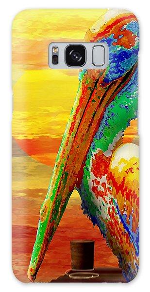 Pelican Sunset Galaxy Case