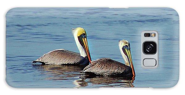 Pelicans 2 Together Galaxy Case