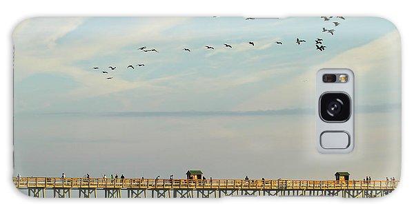 Flagler Galaxy Case - Pelicans At Flagler Beach by Deborah Benoit