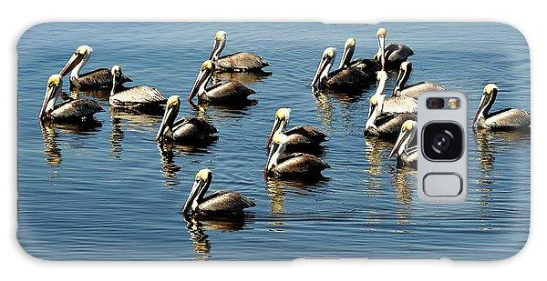 Pelicans Blue Galaxy Case
