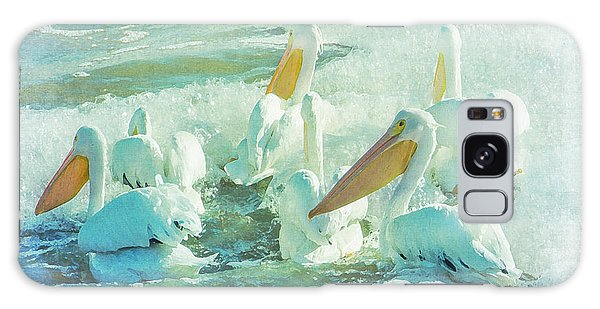 Pelicans On The Tide Galaxy Case