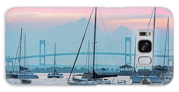 Pell Bridge Newport Harbor Newport Ri Rhode Island Purple Sunset Galaxy Case