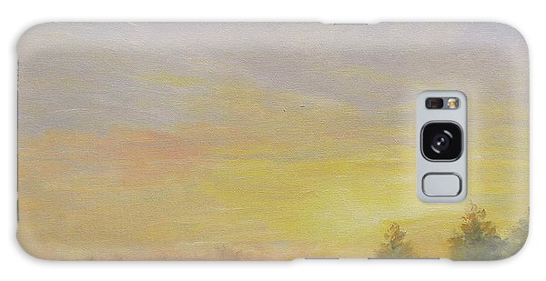 Pemaquid Beach Sunset Galaxy Case