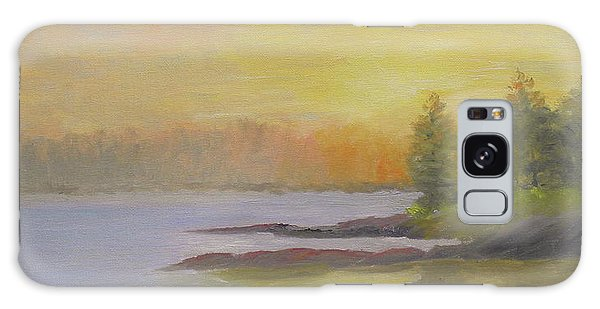 Pemaquid Beach Sunset Galaxy Case