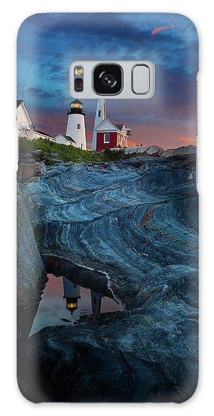 Breaking Dawn Galaxy Case - Pemaquid Lighthouse At Dawn by David Smith
