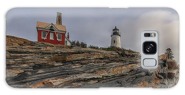 Pemaquid Point Cliffs Galaxy Case