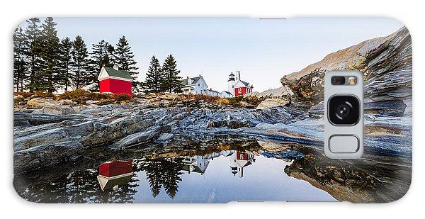 Pemaquid Point Light Reflection Galaxy Case by Robert Clifford