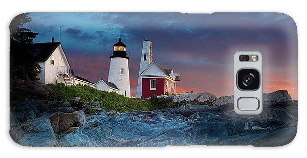 Breaking Dawn Galaxy Case - Pemaquid Point Lighthouse At Dawn 2 by David Smith