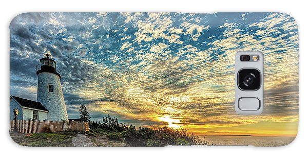 Breaking Dawn Galaxy Case - Pemaquid Point Lighthouse At Daybreak by David Smith