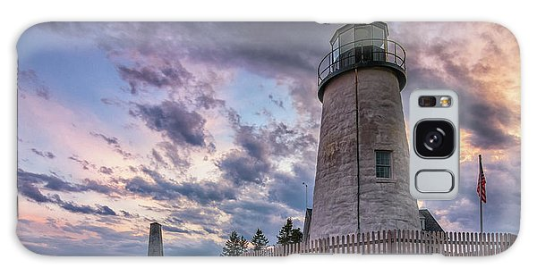 Pemaquid Point Lighthouse At Sundown Galaxy Case