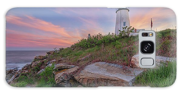 Pemaquid Point Sunset Galaxy Case