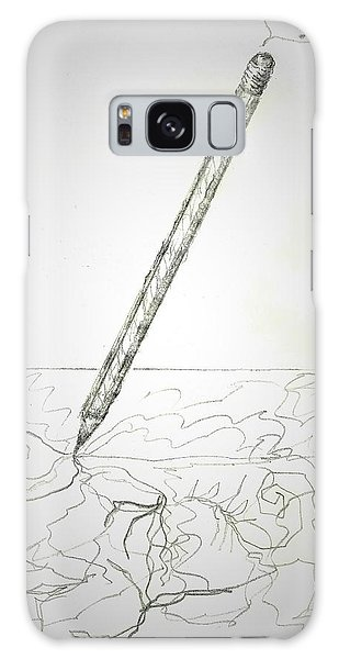 Galaxy Case featuring the drawing Pencil Drawing by Denise Fulmer