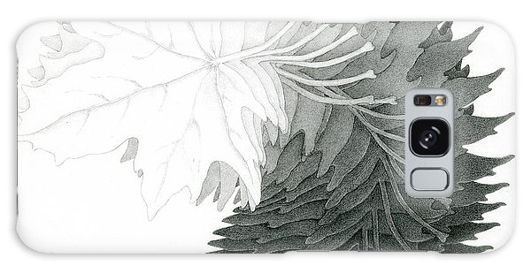 Pencil Drawing Of Maple Leaves Galaxy Case