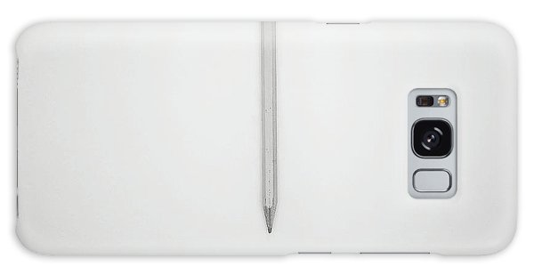 Office Galaxy Case - Pencil On A Blank Page by Scott Norris