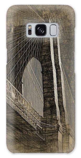 Pencil Sketch Of The Brooklyn Bridge Galaxy Case