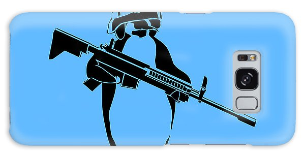 Weapons Galaxy Case - Penguin Soldier by Pixel Chimp