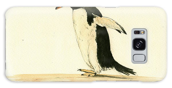 Penguin Galaxy Case - Penguin Walking by Juan  Bosco