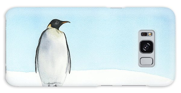 Penguin Watercolor Galaxy Case by Taylan Apukovska