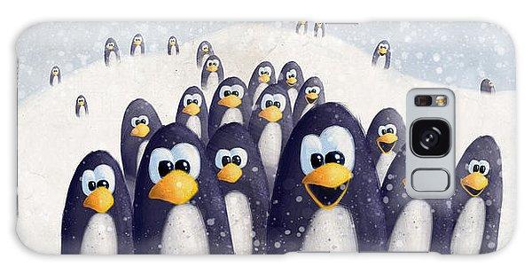 Penguin Winter Galaxy Case