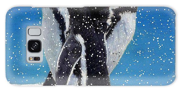 Penguins In The Snow Galaxy Case by Patricia Barmatz