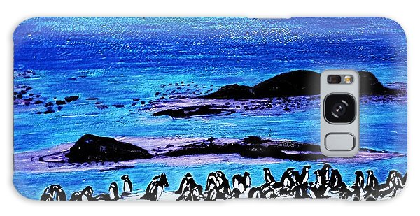 Penguins Land Galaxy Case