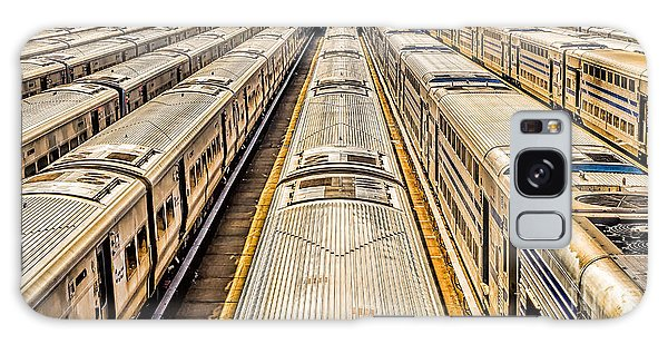 Penn Station Train Yard Galaxy Case