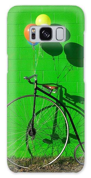 Green Galaxy Case - Penny Farthing Bike by Garry Gay