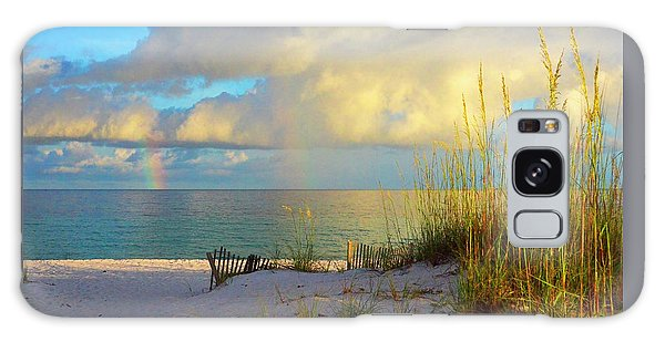 Pensacola Rainbow At Sunset Galaxy Case by Marie Hicks