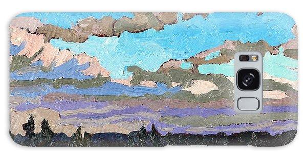 Pensive Clouds Galaxy Case