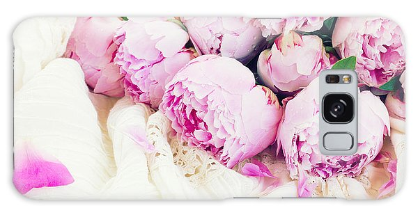 Peonies And Wedding Dress Galaxy Case