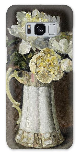 Peonies In Fluted Japanese Coffeepot Galaxy Case