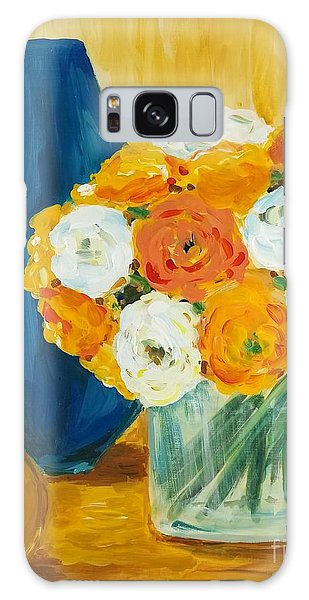 Galaxy Case featuring the painting Peonies by Maria Langgle