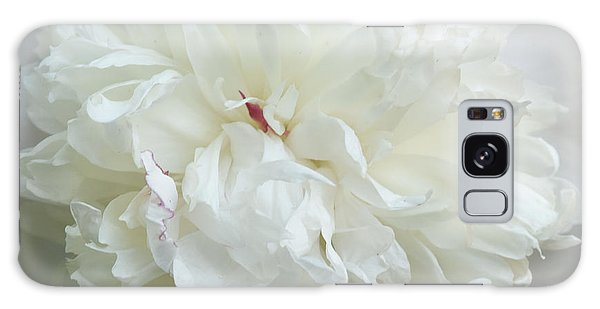 Peony In White Galaxy Case