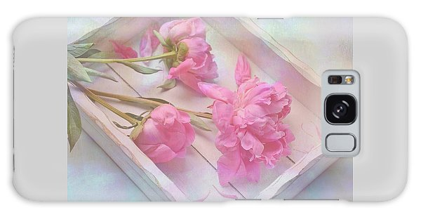 Peonies In White Box Galaxy Case by Diane Alexander