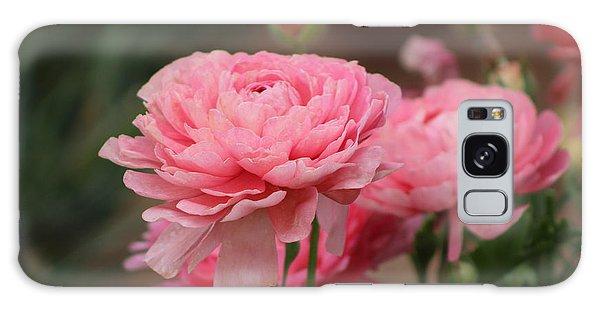 Peony Pink Ranunculus Closeup Galaxy Case