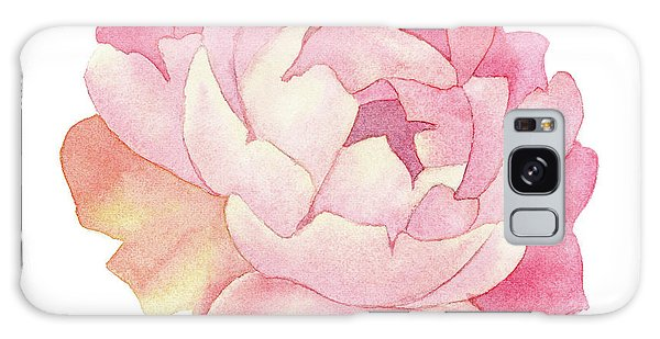 Peony Watercolor  Galaxy Case by Taylan Apukovska